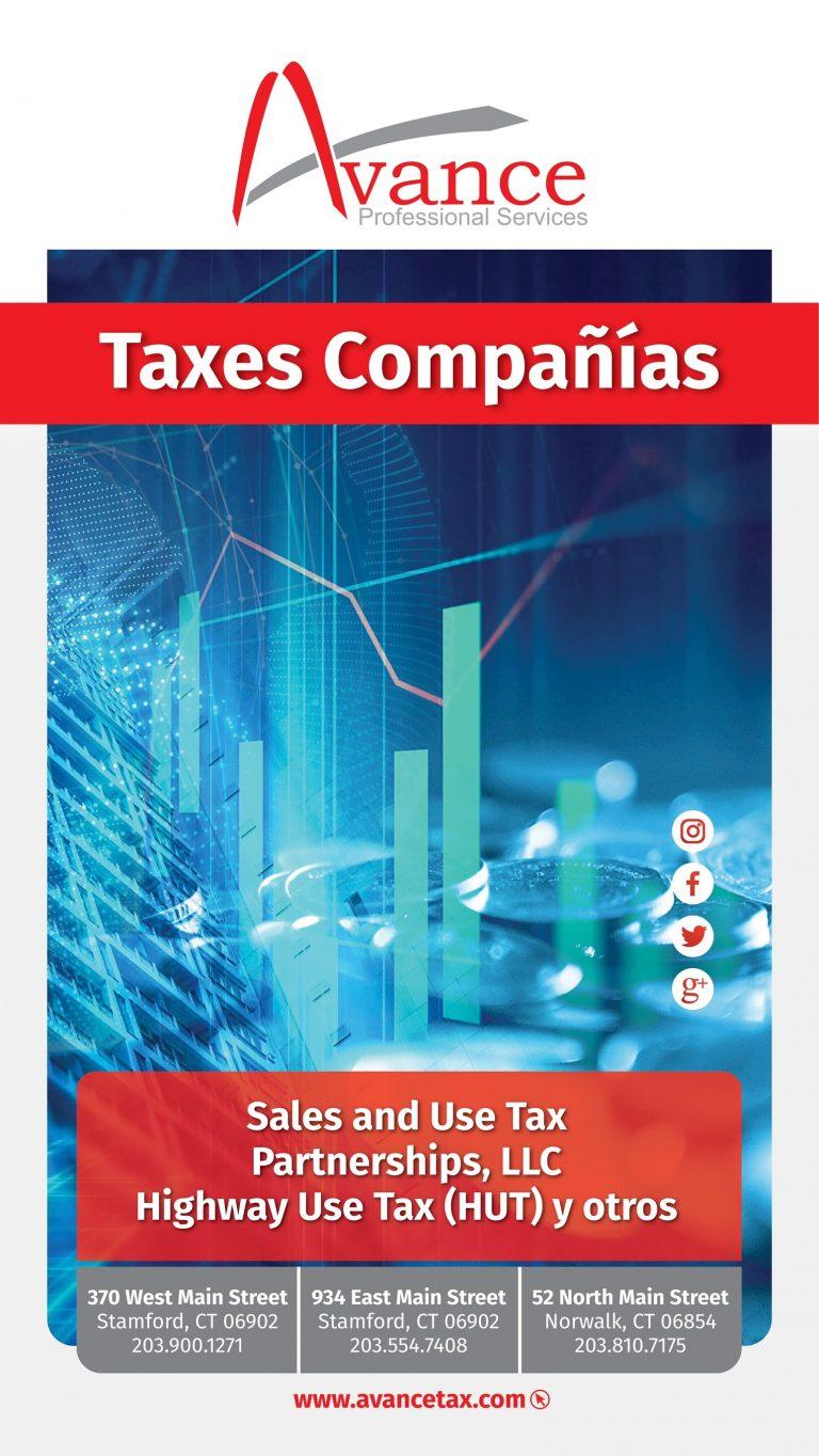 Avance taxes compania