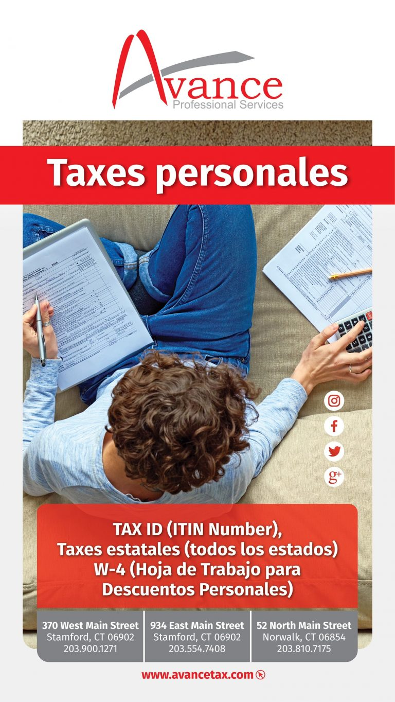 Avance taxes personales
